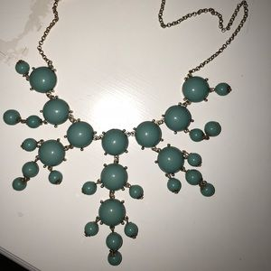 Francesca's teal bubble necklace!